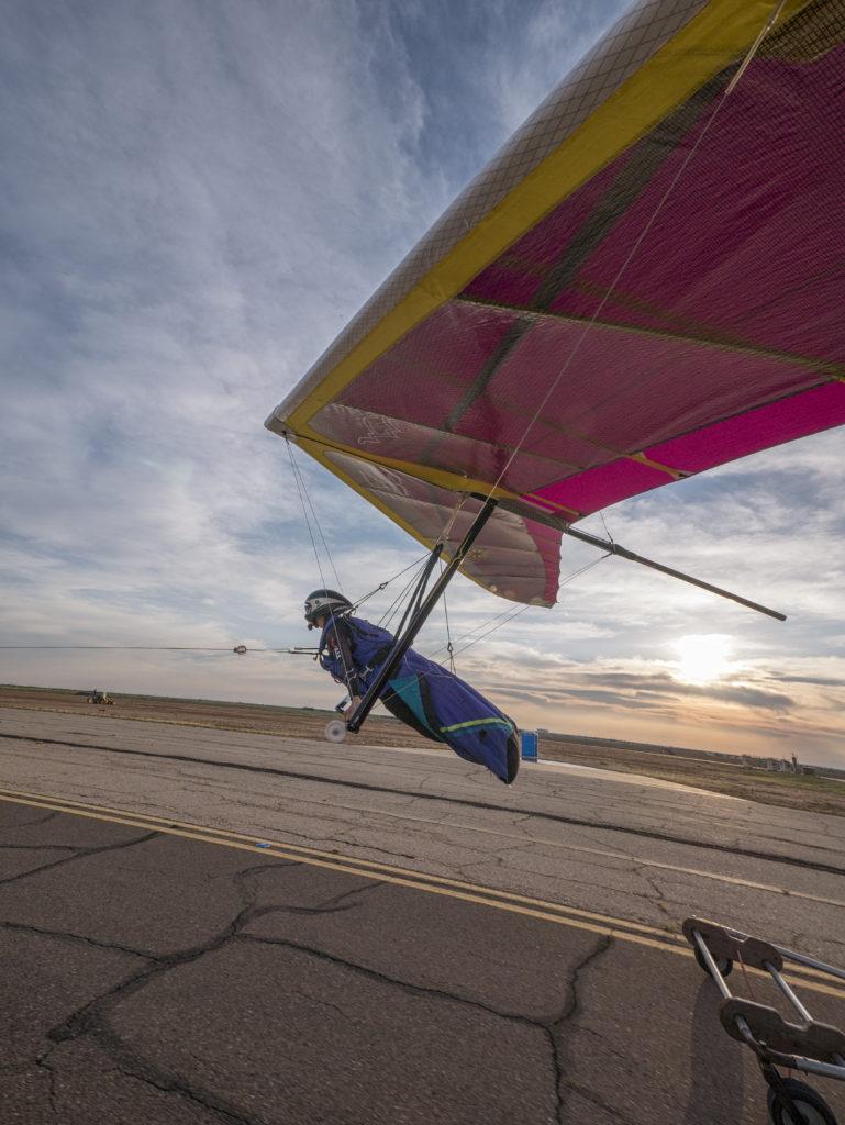 hang gliding launch